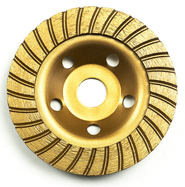 Turbo-row diamond-cup grinding-wheel